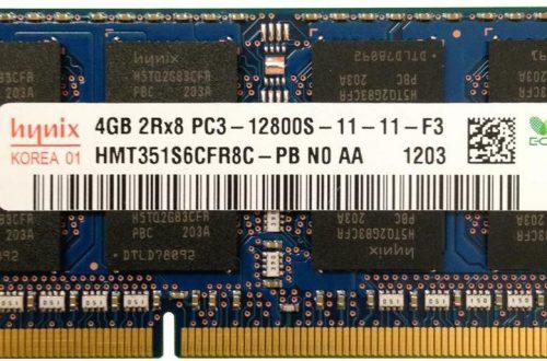 4GB SODIMM RAM SK Hynix hmt351s6cfr8c-pb | PC3-12800s-11-12 geheugen Refurbished